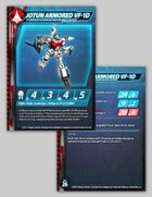 UEDF Jotun Armored VF-1D Stat Card for Robotech® RPG Tactics™