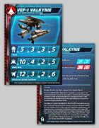 UEDF VEF-1 Valkyrie Stat Card for Robotech® RPG Tactics™