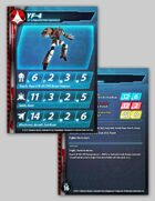 UEDF YF-4 Prototype Veritech Stat Card for Robotech® RPG Tactics™