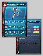 UEDF Flight Lead YF-4 Prototype Veritech Stat Card for Robotech® RPG Tactics™