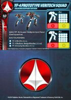 UEDF YF-4 Prototype Veritech Squad Support Card for Robotech® RPG Tactics™