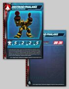 UEDF Destroid Phalanx Stat Card for Robotech® RPG Tactics™