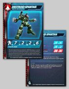 UEDF Destroid Spartan Stat Card for Robotech® RPG Tactics™