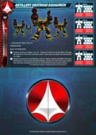 UEDF Artillery Destroid Squadron Card for Robotech® RPG Tactics™