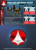 UEDF Phalanx Destroid Squad Support Card for Robotech® RPG Tactics™