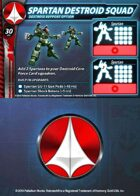 UEDF Spartan Destroid Squad Support Card for Robotech® RPG Tactics™