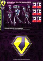 Zentraedi Regult Artillery Squadron Card for Robotech® RPG Tactics™