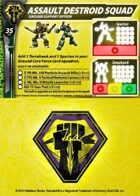 Malcontents Assault Destroid Squad Support Card for Robotech® RPG Tactics™