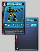 UEDF Destroid Defender Stat Card for Robotech® RPG Tactics™