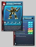 UEDF Destroid Tomahawk Stat Card for Robotech® RPG Tactics™