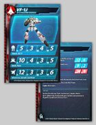 UEDF VF-1J Valkyrie Stat Card for Robotech® RPG Tactics™