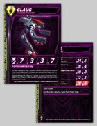 Zentraedi Glaug Officer's Pod Stat Card for Robotech® RPG Tactics™