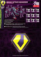 Zentraedi Regult Attack Squadron Card for Robotech® RPG Tactics™