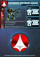 UEDF Defender Destroid Squad Support Card for Robotech® RPG Tactics™