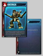 UEDF Dietrich Character Card for Robotech® RPG Tactics™