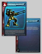 UEDF Freeman Davidoff Character Card for Robotech® RPG Tactics™