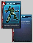 UEDF Kain Weller Character Card for Robotech® RPG Tactics™