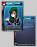 UEDF Miriya Sterling Character Card for Robotech® RPG Tactics™