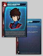 UEDF Rick Hunter Character Card for Robotech® RPG Tactics™