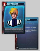 UEDF Roy Fokker Character Card for Robotech® RPG Tactics™