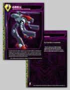 Zentraedi Grell Character Card for Robotech® RPG Tactics™