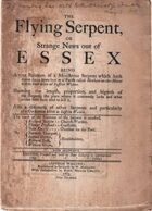 The Flying Serpent, or Strange News Out Of Essex