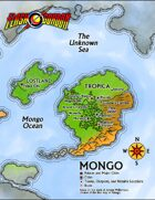 The Savage World of Flash Gordon: Mongo Poster Map
