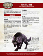 Savage Worlds Adventure's Guild INDD Template