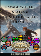 Savage Worlds Character Conditions & Status Token Labels