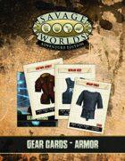 Savage Worlds Adventure Edition: Gear Cards (Armor)