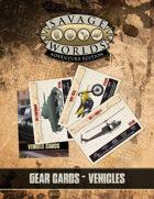 Savage Worlds Adventure Edition: Gear Cards (Vehicles)