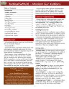 Tactical SWADE: Modern Gun Options
