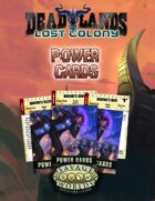 Deadlands: Lost Colony: Power Cards