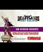 Deadlands: Lost Colony: GM Screen Inserts
