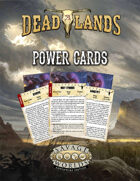 Deadlands: The Weird West: Power Cards