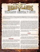 Deadlands: The Weird West: Marshal's Notes