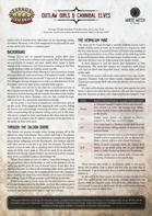 Outlaw Girls & Cannibal Elves: A Savage Worlds One Sheet