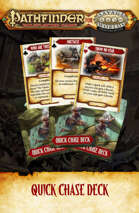 Pathfinder® for Savage Worlds Quick Chase Deck