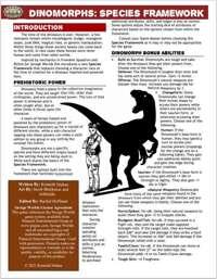 Dinomorphs: Species Framework