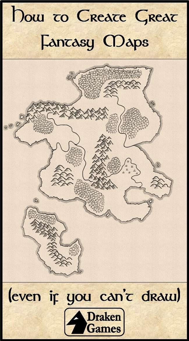 How to Create Great Fantasy Maps (Even if You Can't Draw) - Draken Draw On Maps on