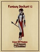 Fantasy Stockart 12: Moon Elf Priestess