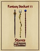 Fantasy Stockart 13: Staves