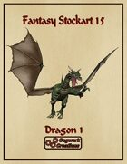 Fantasy Stockart 15: Dragon 1