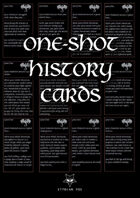 One-shot history cards (Fantasy)