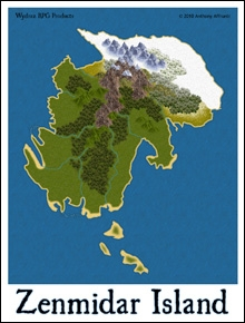 Zenmidar Island Adventure Map (Sample) - Wydraz | Fantasy ...