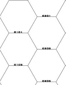 10x10 Hex Grid