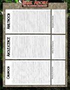 Dark Aeons Persona Background Sheet