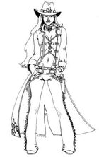 Emily Vitori Designs: Female Gunslinger 1