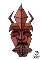 Bree Orlock Designs: Tribal Demon Mask