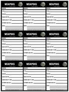 Dark Aeons Weapon Cards